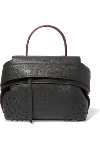 leather dark bag