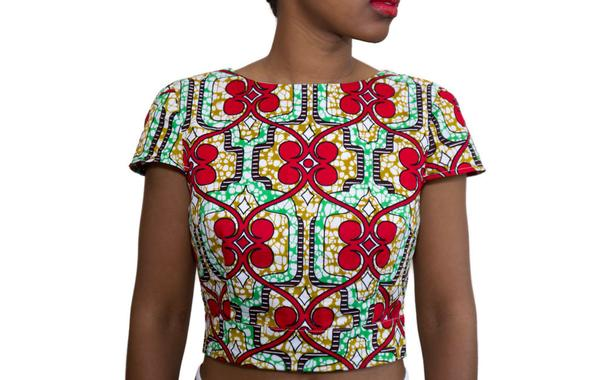 Asha African Print Cropped Top | Shop Khesi
