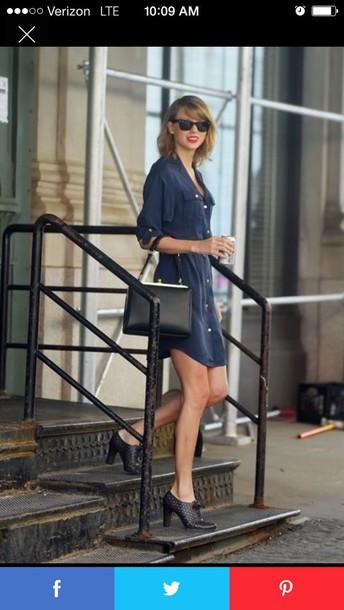 dress taylor swift taylor swift dress blue dress navy dress sunglasses