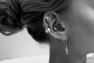jewels earring piercing silver christian