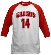 top,wildcat,wildcat hsm,hsm,t-shirt,red tee,red tshirt,baseball,costume,movie,wildcats t-shirt