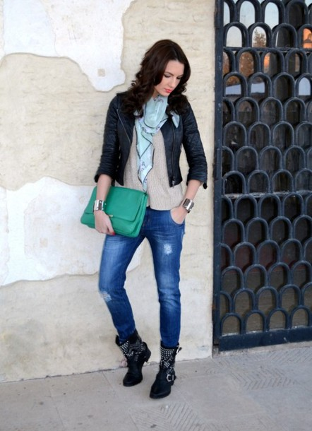 my silk fairytale jacket sweater jeans shoes bag scarf jewels
