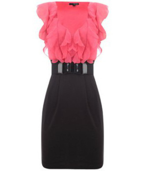 frills tally weijl pink dress