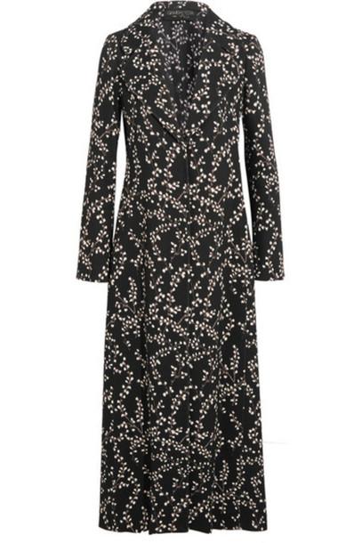 GIAMBATTISTA VALLI coat floral print black