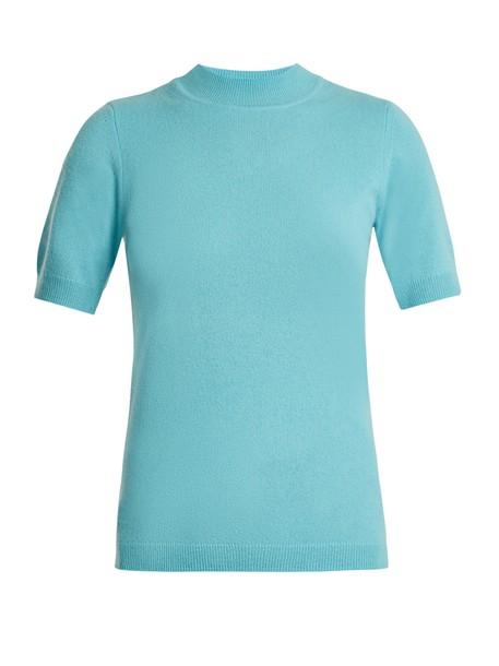 Diane Von Furstenberg sweater short knit blue