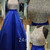 A-line Round Neck Sequin Backless Long Blue Prom Dress, Evening Dress - 24prom