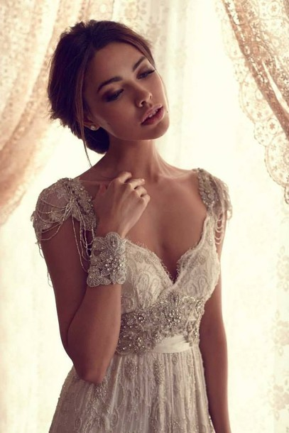 Dress clothes prom dress long prom dress 2014 prom for Beaded vintage style wedding dresses