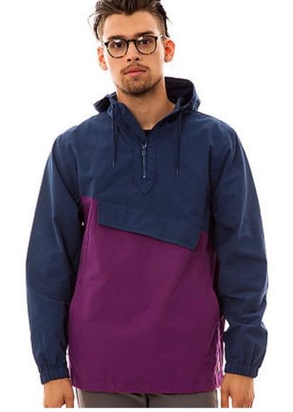 navy vintage jacket windbreaker mens jacket menswear