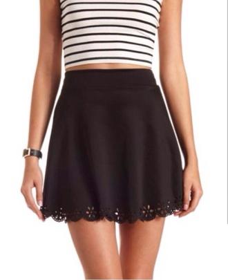 skirt scallop skirt