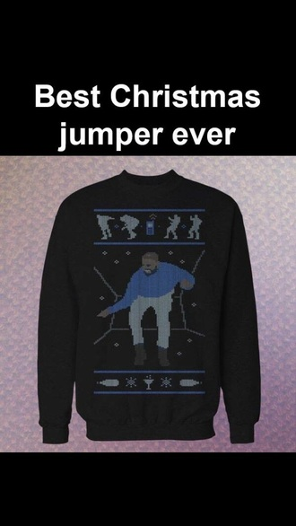 sweater drake christmas sweater blue