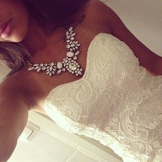 dress clothes lace dress lace necklace beautiful beautiful dress