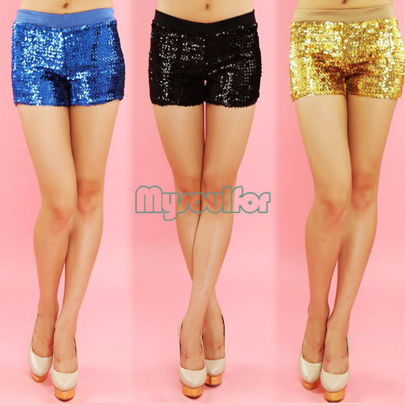 Hot Fashion Women's Sequins Shorts Dance Performance Costume Shorts Pants MSF | eBay