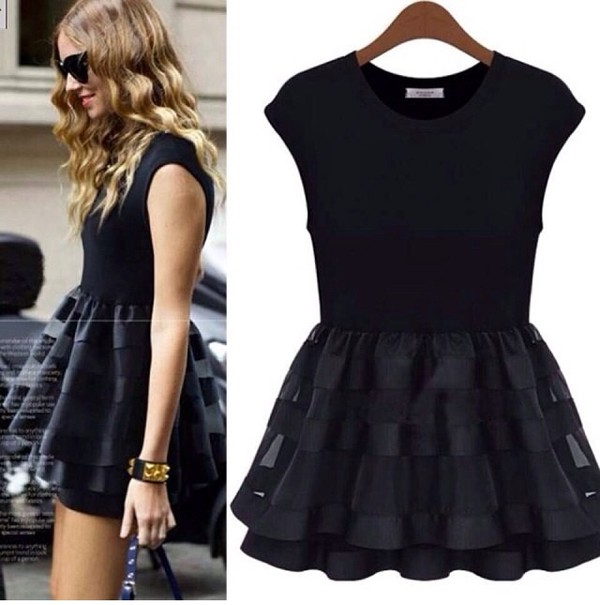 dress little black dress black girly
