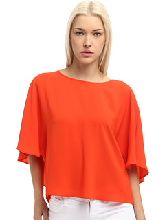 tibi Bibelot Crepe Cape Back Top Cayenne - Zappos Couture