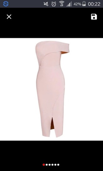 dress pencils pencil dress pink apricot beautiful side split sleeveless fashion