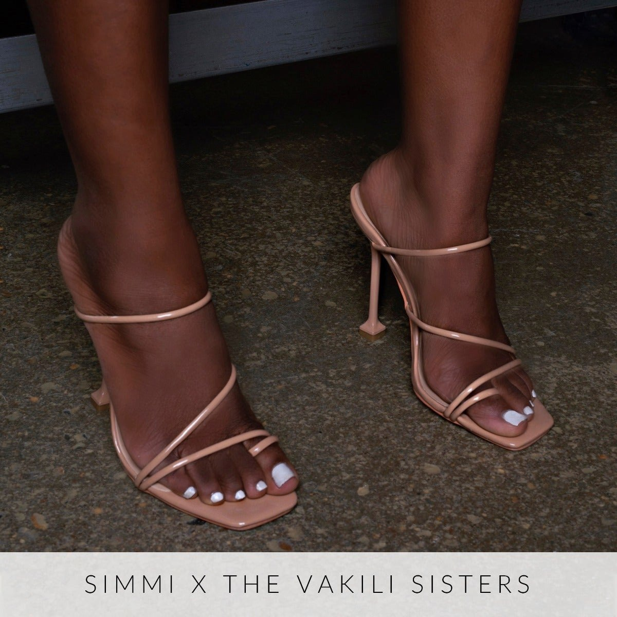 Marni Nude Patent Strappy Mule Heels