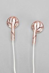earphones,rose gold
