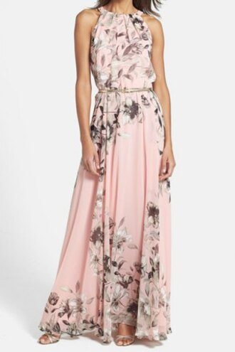 dress pink floral pretty girly