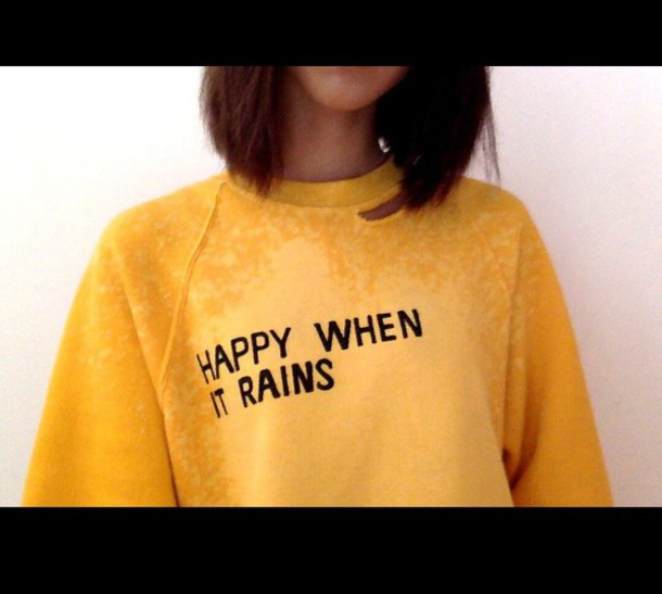Sweater: yellow, quote on it, tumblr, jumper, cute, boho, vintage ...