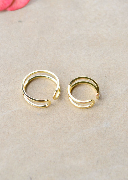 jewels ring gold gold rings gold ring rings two-piece ring set