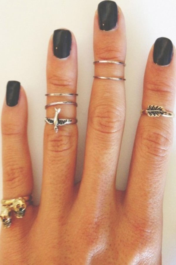 jewels ring knuckle ring jewelry fashion stylw cute hipster tumblr knuckle ring hand jewelry grunge jewelry ring rings and tings silver ring ring set silver silver jewelry