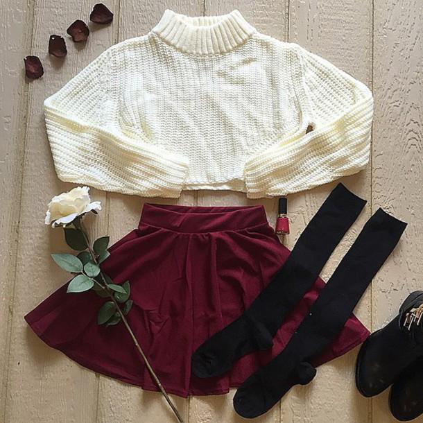 skirt divergence clothing skater skirt fall outfits