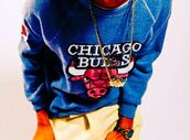 sweater,chicago bulls,blue,red,black,white,cardigan
