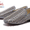 Christian louboutin  sheepskin spike shoes gray  : christian louboutin mens shoes