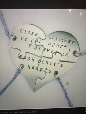 jewels heart friends bff necklace friendship necklace fashion
