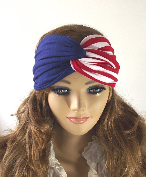 American flag boho turban twist headband by liliavaniniboutique