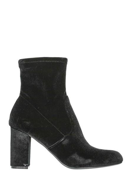 Steve Madden velvet black shoes