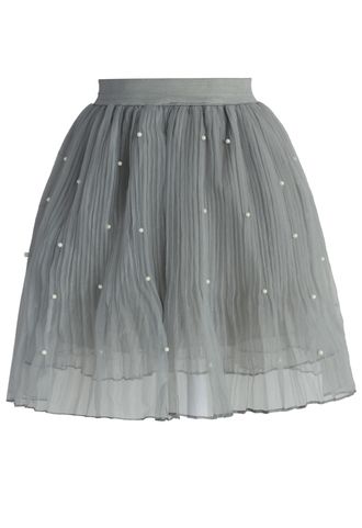 skirt chicwish pearly skirt tulle skirt smoke skirt spring skirt summer skirt party skirt chicwish.com