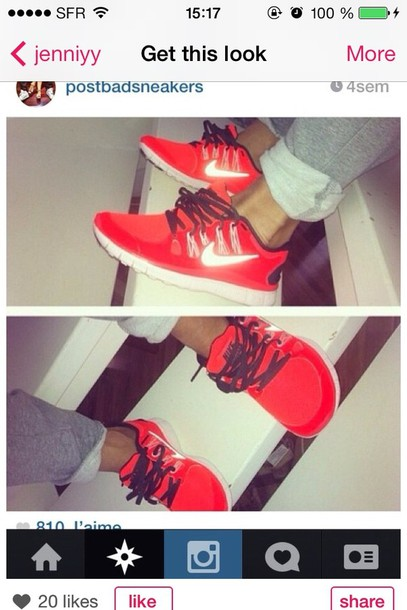 shoes nike sneakers nike sneakers nike free run nike free run red