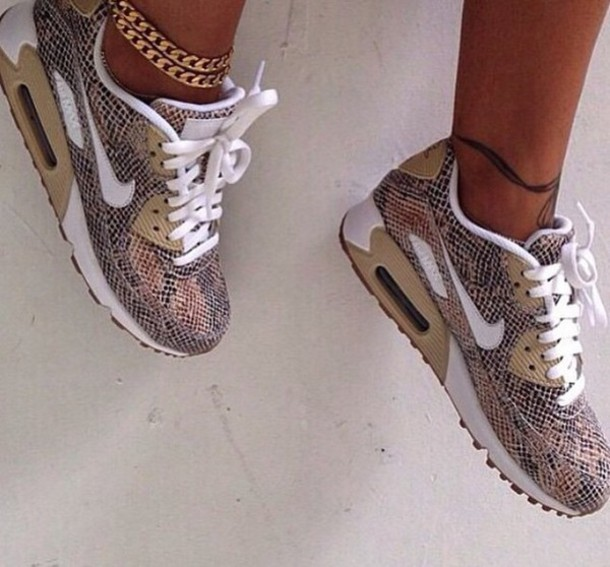 shoes nike sneakers snake skin air max