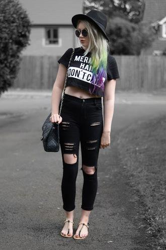 sammi jackson blogger top jeans bag shoes