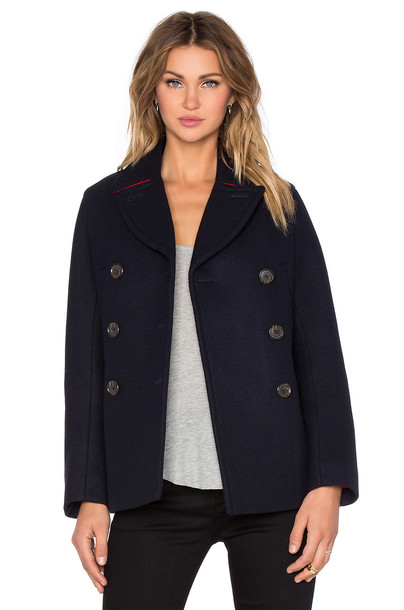 Marc by Marc Jacobs coat wool coat wool navy