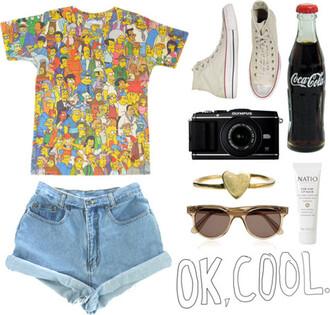 shirt t-shirt hipster shorts the simpsons