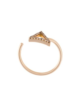 women midi ring yellow jewels