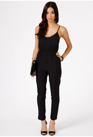 Kelsey Chiffon Strappy Playsuit - Jumpsuits & Playsuits - Clothing - Missguided