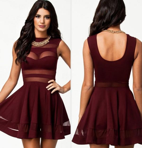 burgundy burgundy dress