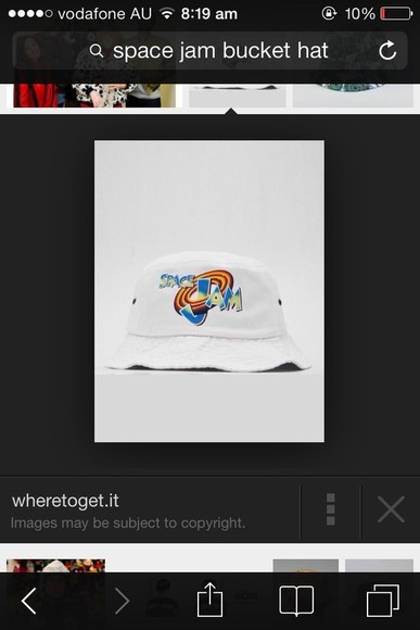 white retro hat bucket hat space jam michael jordan looney tunes