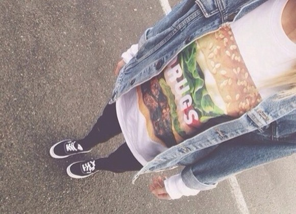 shirt hamburger t-shirt jacket
