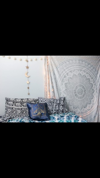 home accessory silver tapestry bohemian bedding