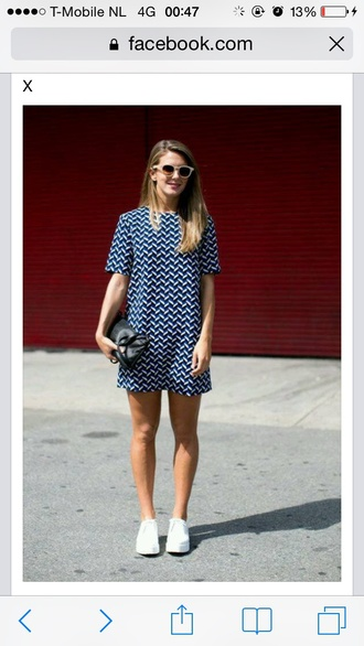 dress blue dress printed dress