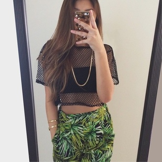 pants palm tree print weed