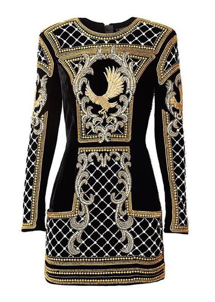 dress balmain x h&m black dress