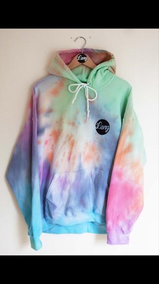 tie dye jacket leng tie-dye tie dye tie dye sweater sweater hoodie sweater leng clothing