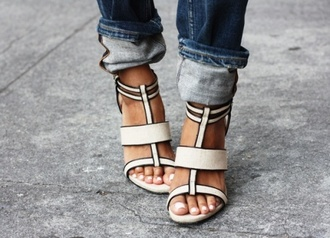 shoes high heels heels open toes chunky heels block heel sexy sexy high heels cute cute high heels white