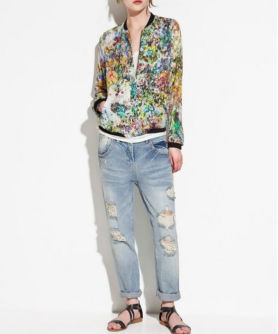 Aliexpress.com : Buy New fashion Women's clothes Floral Tropical Flower Printed Bomber Jacket Coat outerwear Top quality free shipping from Reliable coat women suppliers on Online Store 615258 Licy-Jenny