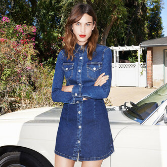 alexa chung shirt dress denim
